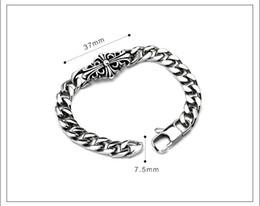 Wholesale Trend Cross Bracelet - 316L Stainless steel Classic Trend of Titanium Bracelet Male Flower Lady Cross Bracelet Punk Fashion Accessories CE517