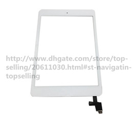 Wholesale Digitizer For Ipad Mini - 20Pcs High Quality Touch Screen Glass Panel with Digitizer with ic Connector Buttons for iPad Mini 1 2 Black and White