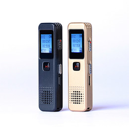 Wholesale real audio music - Wholesale- Ultra Mini LCD display Music MP3 Player 16GB USB Disk Rechargeable Digital Audio Voice Recorder Dictaphone Real Sound speaker