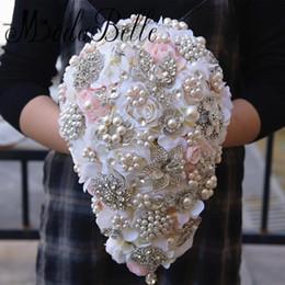 Wholesale High Quality Wedding Bouquet - 2017 New Luxury Crystal Pearl Bridal Flower Bouquet Handmade Wedding Bouquets Bruidsboeket Bouquet De Mariage High Quality