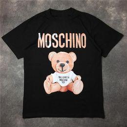 Wholesale Eye Shirts - Little Bear Transformer Eye Shark Mouth 2017 Moschin O Men's T shirt summer High Street trend leather toy Printed Masculino Tops Cloth