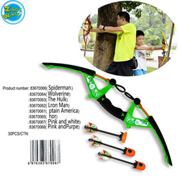 Wholesale Toy Shoot Air - Wholesale The Hulk-Zingw Big Size Air Huntress Fire Tek Bow Toy Game Kids Outdoor Play Gift Shoot With Refills Whistle 3 Arrows Kids Toy