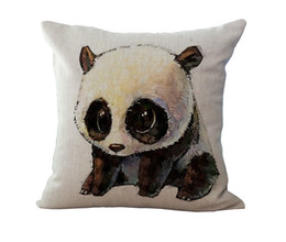 Wholesale China Wholesale Pillows - 18 Inches Of Fashion China Panda Pattern Cushion Cover Pillowcase Sofa Seat Pillow Cover Car Supplies Car Covers Home Decor