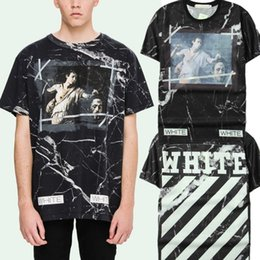 Wholesale High Hip Shorts - Off-White Tshirt Fear of God 2017 New Fashion High Quality Kanye West Mens T Shirt Hip Hop Short Sleeve Cotton T-shirts