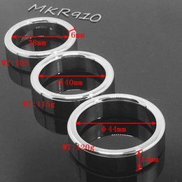 Wholesale Stainless Cockrings - Metal Penis Rings Male Cockrings Stainless Steel Metal Ball Stretcher Chastity Device bdsm Sex Delay Love ring BONDAGE CBT FETISH MKR910
