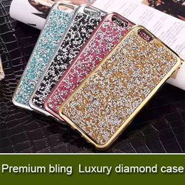 Wholesale Premium Diamonds - Premium bling Luxury diamond rhinestone glitter back cover phone cases For iphone 7 5 6 6s plus case Package available