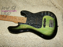 Wholesale Bass Guitar Promotions - High Quality Green Bass Guitar 5 Strings Electric Bass Promotion Free Shipping HOT Wholesale Free Shipping