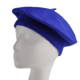Wholesale Soft Winter Beret - Wholesale-Women's Autumn&Winter Soft Warm Wool Classic Berets Felt French Artist Beanies Tam Baggy Hats Ski Caps #45