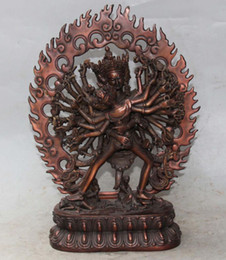 Wholesale Evil Statue - Exquisite Chinese Tibetan Buddhism copper drive the evil auspicious statue ,to ward off bad luck