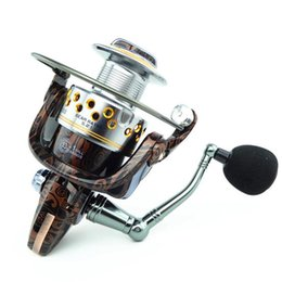 Wholesale Copper Lures - 2017 New Copper Foot Metal Handle Wood Grain Fishing Reel HA 13+1BB Lure Bait Spinning Reel Oxidation Resistance Carp Reel