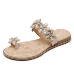 Wholesale Tpr Sole Sandals - 2 colors Standard size 35-41 ladies Sandal 2017 new fashion flip flops shoes flat heel TPR soles casual women sandals