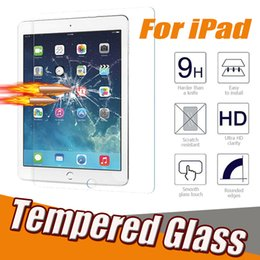 Wholesale Ipad Scratch Protector - Tempered Glass Screen Protector 9H Hardness Clear Film Guard Ultra Thin Explosion-proof For iPad Mini 1 2 3 4 iPad 2 3 4 Air 2 5 6 Pro 10.5