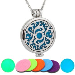 Wholesale Wholesale Dolphins - NEW Perfume Disffuser Luminous Dolphins Necklaces Aromatherapy Locket Essential Oil Diffuser Necklaces Locket Cage Pendant Pendant Necklace