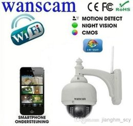 Wholesale Wanscam Cctv - New arrive!! cctv Cameras From Wanscam Outdoor PTZ Wireless wifi HD Megapixel IP Camera Support P2P Mobile View HW0028