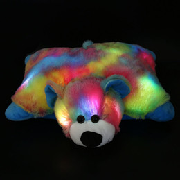 Wholesale Polar Stuff - Dropshipping Free Shipping 40cm Night Glowing Bear Pillow Stuffed Animals Toys LED Polar Bear Best Gifts for Kids and Babies