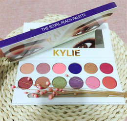 Wholesale Pens Glitter - 3pcs Kylie Eyeshadow The Royal Peach Palette 12 color Kylie Jenners 12color Eyeshadow palette with brush pen Cosmetics Eye shadow Powder
