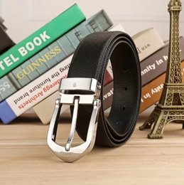 Wholesale Cow Pin - New Fashion Cow Genuine leather belts men Luxury belt man Designer Pin buckle strap High quality cowhide girdle for jeans
