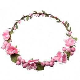 Wholesale Wedding Hair Accessories For Children - Women and Children Headwear Blueberry Flower Hairbands Hair Accessories For Bride Wedding Headdress
