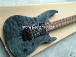 Wholesale Transparent Black Guitar - New 7 string black double rocking electric guitar transparent black. Wholesale and retail