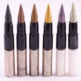 Auge aufhellung bleistift online-2in1 Multi Usage Make Up Lidschatten Bleistift Shimmer Erhellen Glitter Eye Shadow Pen + Eyeliner