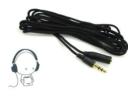 Wholesale Nylon Headphones - 1.5m 2m 3m 3.5mm Jack Female to Male Earphone Headphone Stereo Audio Extension Cable Cord for Speaker Phone Nylon Wire