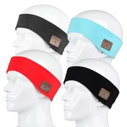Wholesale Electronic Hat - 4 Colors Outdoor Sports Wireless Bluetooth Headband Earphone Stereo Magic Music Hat Headband Smart Electronics Hat for iPhone