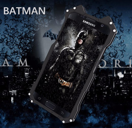 Wholesale Metal Fittings For Bags - R-JUST BATMAN phone case For Samsung Galaxy S7 S7 Edge S6 S6 edge note 5 case Armor Aluminum Metal Phone phone bag case