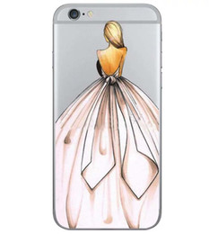 Wholesale iphone 5s cases draw - 2016 Hot Creative Cell Drawing Girls Fashion Show Pattern High Quality Back Cover solf TPU Case for iphone 7 plus 6 plus 5S