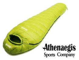 Wholesale Down Sleeping Bag Adult - Wholesale- Athenaegis 1500G white goose down filling can be spliced mummy ultra-light goose down sleeping bag