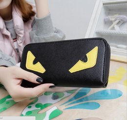 Wholesale Halloween Customs Women - free shipping Custom color Little monster accordion wallet in genuine stingray leather Most popular cute monster purse in wholesale retail