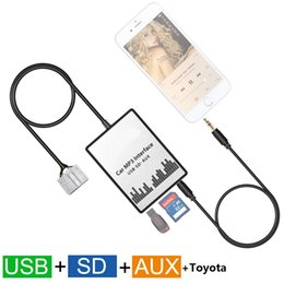Wholesale Car Audio For Toyota - Car MP3 Player USB SD AUX Input MP3 Audio Adapter Digital CD Changer for 1998-2004 Toyota 4Runner Avalon Avensis Camry Celica Corolla