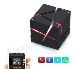 Wholesale Mini Cube Stereo Speakers - Bluetooth Wireless Speaker Stereo Magic Cube Music Player Color LED Light Mini Speaker for iPhone Samsung Smart Phone Tablet PC