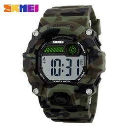 Wholesale Trendy Sport Watch Black - SKMEI Men's Watches Outdoor Sports Digital Watch Multifunction Trendy Watch Army Military Watch Clock LED New Popular Wristwatch