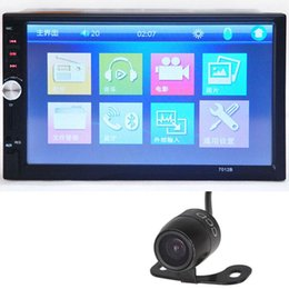 Wholesale Double Din Camera - 7 inch HD 1080P Touchscreen Bluetooth Double-DIN MP5 MP4 Player Car FM Radio Receiver+ 18mm Color CCD Camera CMO_20J