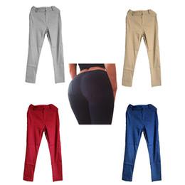 Wholesale Wholesale Jogger Pants Women - Joggers Outdoor Sport Yoga Pants Fitness Leggings Shaping Hip Trousers Fitness Gym Clothing Slim Feet Yoga Pant 5 Colors 2501058