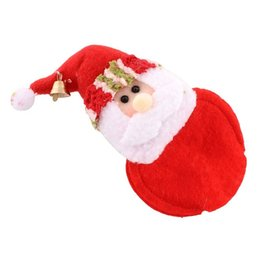 Wholesale Hot Pad Placemats - Wholesale- 1 pcs Hot sale Santa Claus Cup Pad Placemats Xmas Home Party Decor Christmas Coasters onderzetters