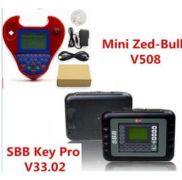 Wholesale Smart Key Transponder - 2017 new good SBB Silca V33.02 SBB Key Programmer + Smart Mini Zed-Bull V508 Zedbull Zed Bull Auto Key Transponder No Tokens Limited