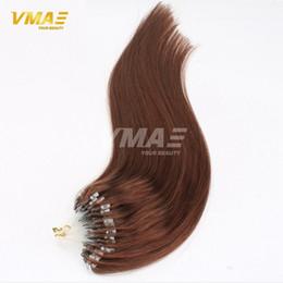 Wholesale Micro Loop Link - 10 Colors Loop Hair Extensions 100Pcs Pack Silky Straight Brazilian Remy Human Hair Micro Ring Links Hair Extensions On Sale