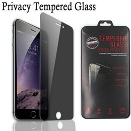 Wholesale Privacy Screen Matte - Privacy Anti-Spy Tempered Glass Screen Protector Shield Premium Protective Guard Film for IPhone 7 4 4s 5 5S 5C 6 6s 6Plus 6sPlus