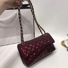 AAAA women luxury brands double flap chain bags patent leather handbags  jelly quilted lattice crossbody shoulder bags France designer purse 3147d1c7f5b3e