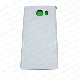 Wholesale Adhesive Covers - 100PCS Original Battery Door Back Housing Cover Glass Cover for Samsung Galaxy S6 G920P S6 edge Plus G925P G928P Note 5 N920P with Adhesive
