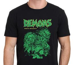 Wholesale Men S Office Shirts - T Shirt Print Men'S Short Demons Classic Dario Argento 80'S Horror Movie Drawing O-Neck Office Tee