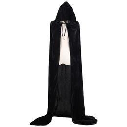 Adulto Bruxa Longo Halloween Cloaks Capa e Capes Trajes de Halloween para As Mulheres Homens Trajes Cosplay De Veludo Cosplay Roupas de