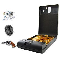 Wholesale Portable Fingerprint - Fashion Portable Security Box Executive Biometric Fingerprint Safe Box Keep Cash Jewelry or Documents Securely H346