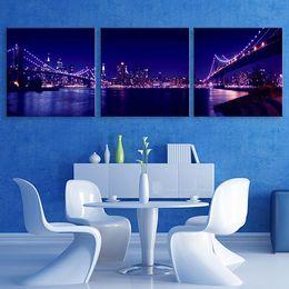Wholesale Wholesale Poster Led Lights - Night-Light LED Flashing Effect Optical Fiber Print Canvas Print Poster Stretched LEDs Canvas Print Canvas Painting