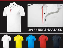 Wholesale Golf T Shirt Xl - 2017 Ti Golf T-shirt men's summer Quick Dry breathable sports shirts 5 color OEM available