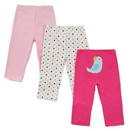 Wholesale Baby Girl Busha - 2016 Autumn Baby Pants Cotton Girl Pants Cartoon knitted Toddler Girl Leggings Elastic Waist Busha PP Pant Trousers Baby Clothes