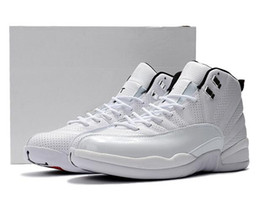 Wholesale Rhinestone Nylons - High Quality Air Retro 12 Sunrise Basketball Shoes Men Women 12s Sunrise White Athletics Trainers Sneakers New Released With Shoes Box