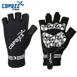Wholesale Riding Gloves For Women - COPOZZ Silicone GEL Half Finger Gloves Bike Bicycle Cycling Fingerless Gloves Slip for MTB Riding Man Women Breathable Gloves