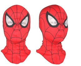 Wholesale Spiderman Hood - Wholesale And Retail Adult Spider-Man Halloween Deadpool mask Cosplay Costume Spider Man mask Spiderman hood Free shipping